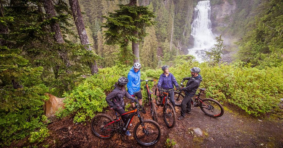 Great Canadian E Bike Adventure waterfall