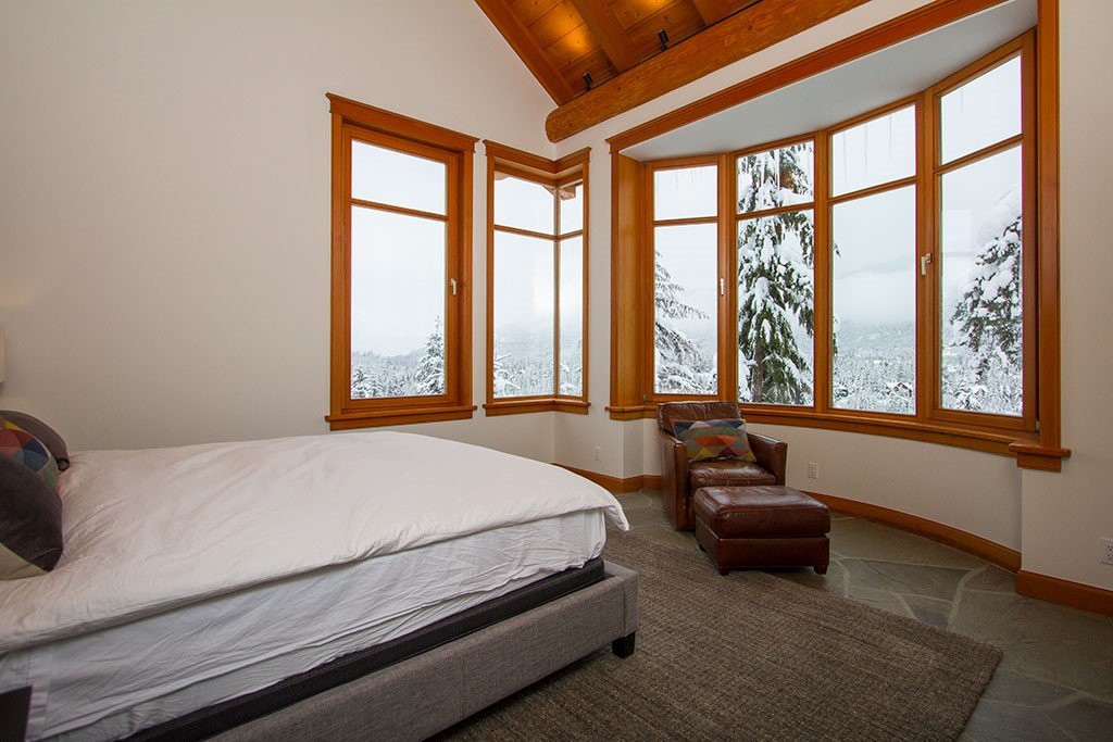 Peak Chalet Whistler Luxury Dining Bedroom View