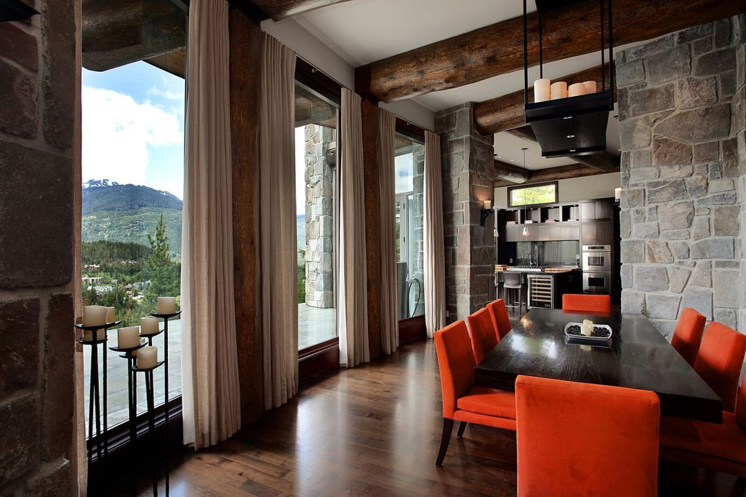 Sunridge 6 Bedroom Whistler Estate Dining View