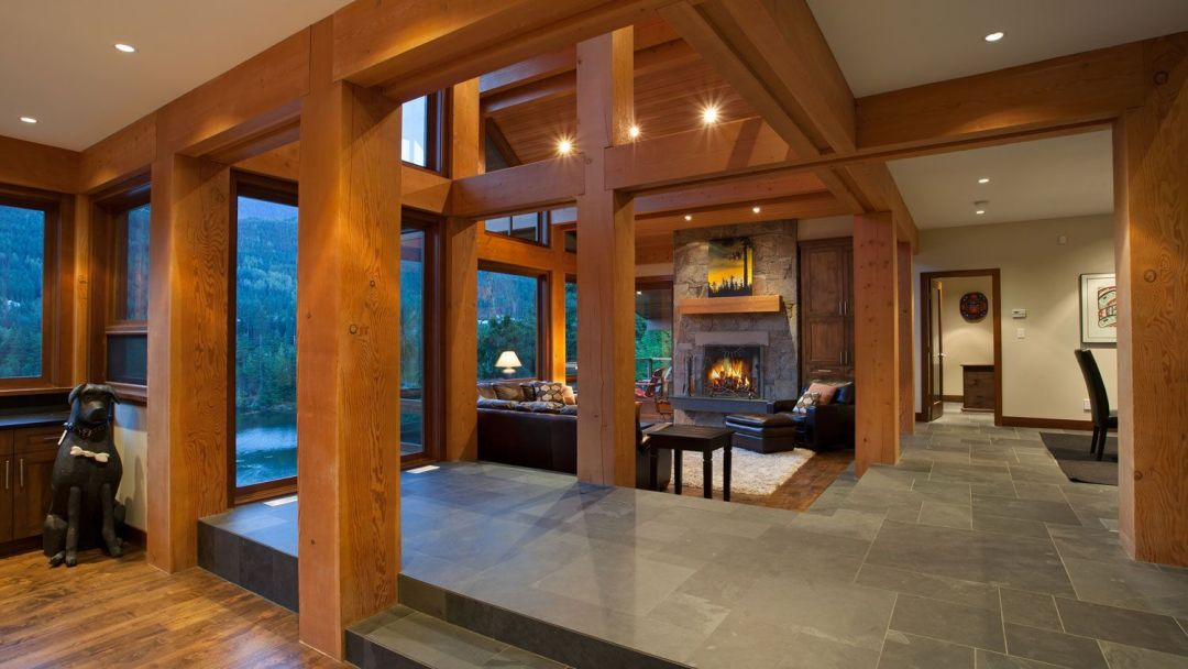 Whistler 8 Bedroom Rental Home Fireplace