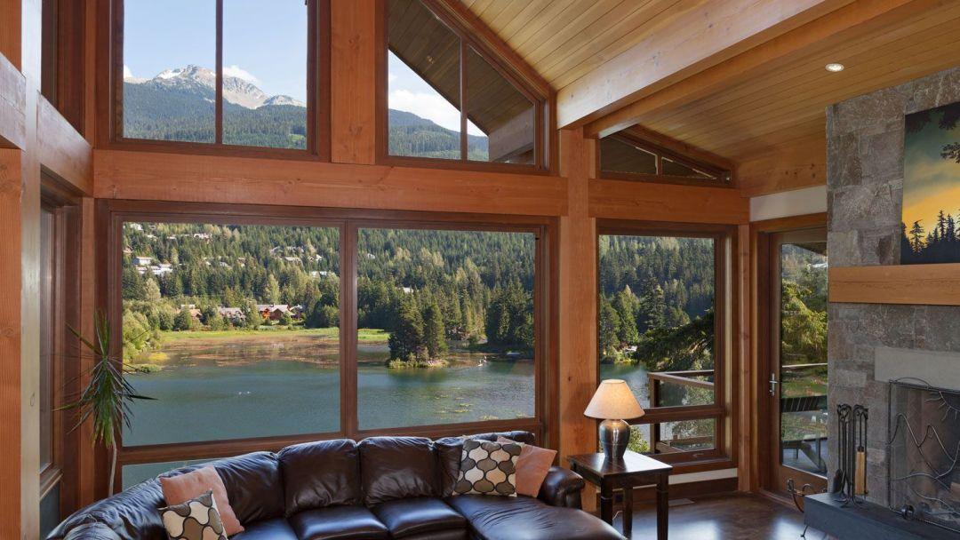 Whistler 8 Bedroom Rental Home Living Rm View