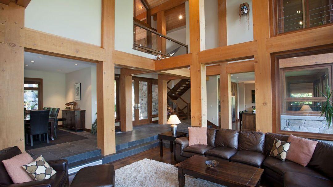 Whistler 8 Bedroom Rental Home Living Rm