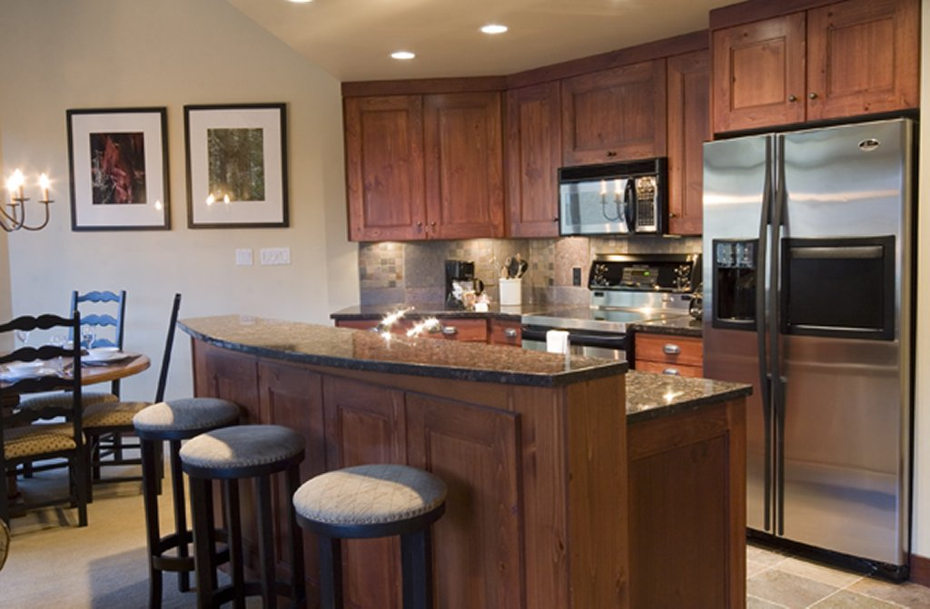 Whistler Luxury Hotel Ski In Ski out First Tracks Lodge Kitchen 2 Bedroom