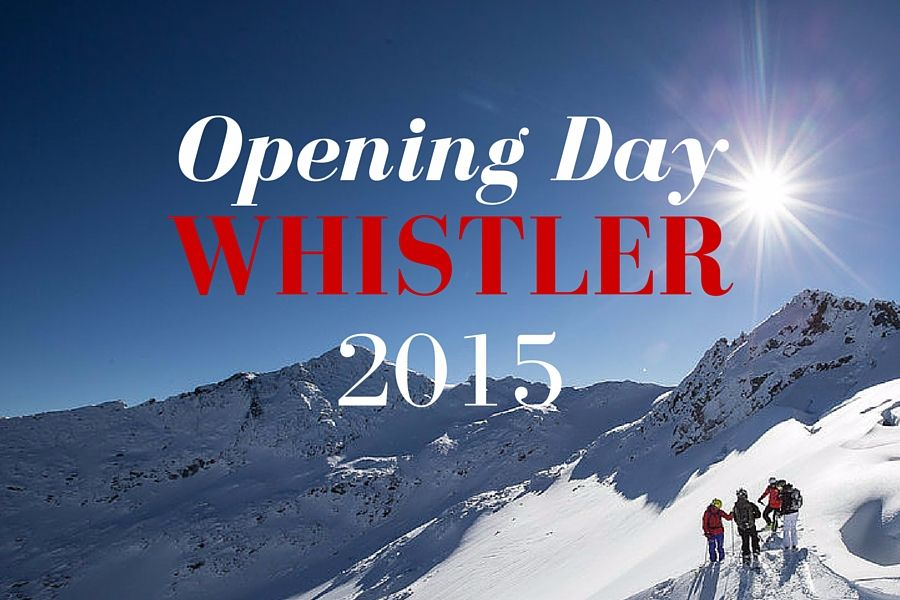 Whistler Mountain Opens 1 Week Early!!