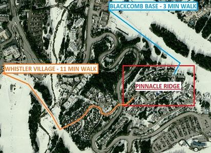 Whistler Ski In Ski out Pinnacle Ridge Map