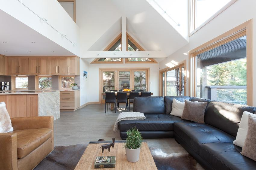 whistler 4 bedroom ski in ski out open concept living room