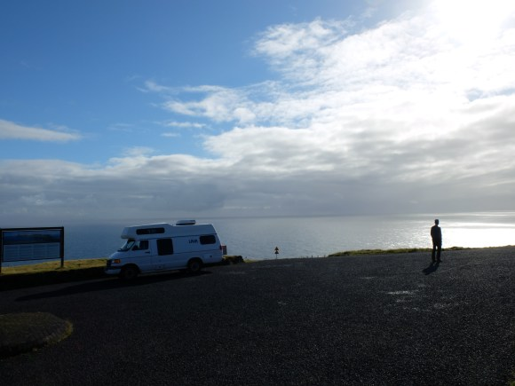Here is how I will remember Iceland: surreal and beautiful, rainy and sunny and full of rainbows, chilly, cozy, with Dan and the camper van - and the big blue ocean.
