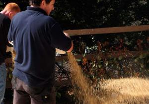 Broadcasting the gravel