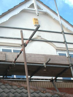 scaffolding fixings dropped