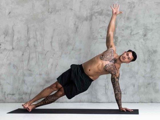 Man doing side plank