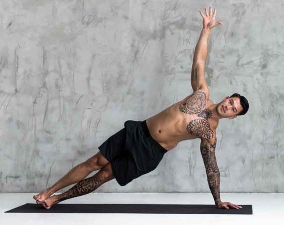 Man doing side plank