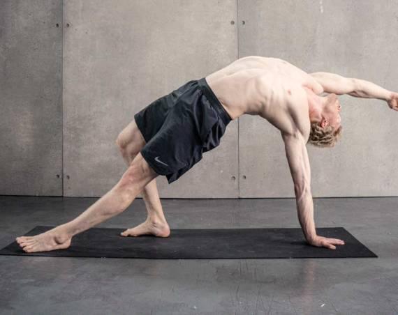 yoga pose rockstar