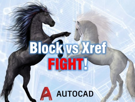 Block vs Xref FIGHT! When and what to use? AutoCAD Guides