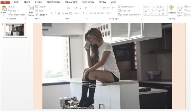 Image with background in PowerPoint