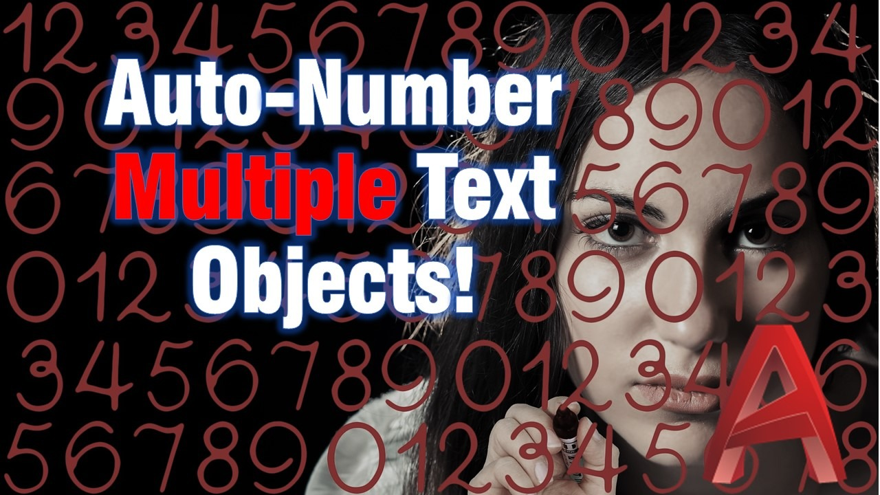 Auto-number multiple text objects with one command!
