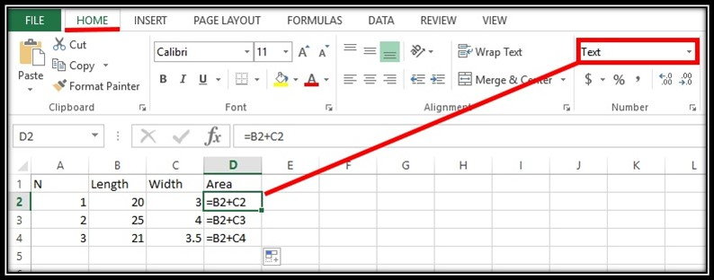 Excel is not updating formulas