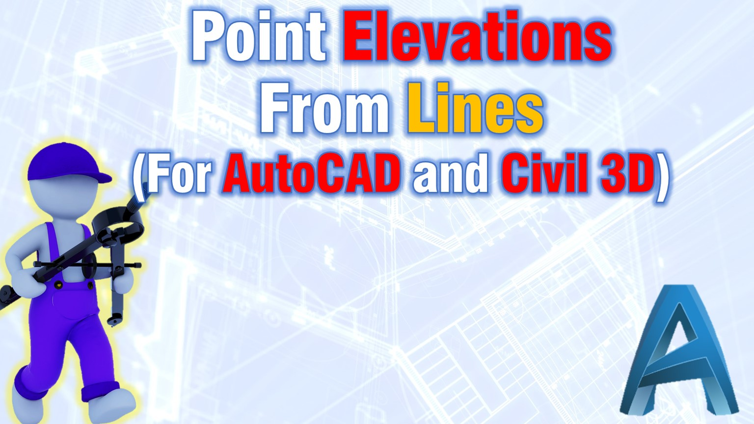Point Elevations From Lines (AutoCAD and AutoCAD Civil 3D Methods!)