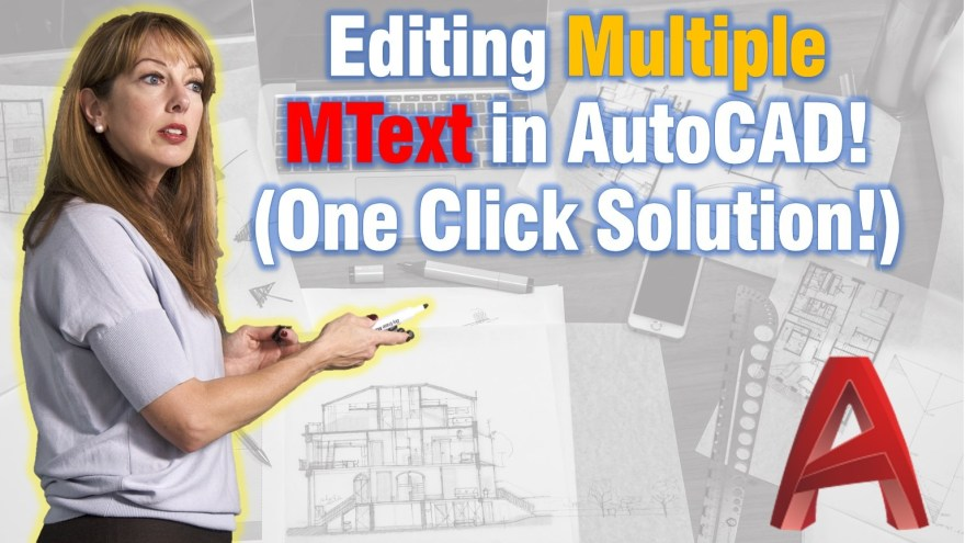 Editing Multiple Text in AutoCAD! (One Click Solution!) AutoCAD Tips