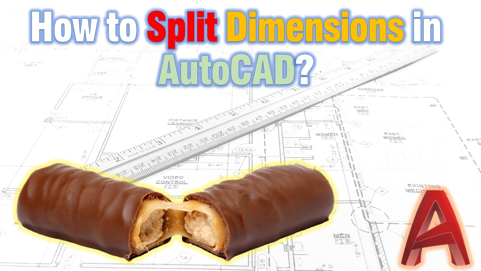 Learn how to split dimensions in AutoCAD