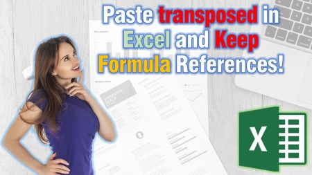 Transpose formulas in excel