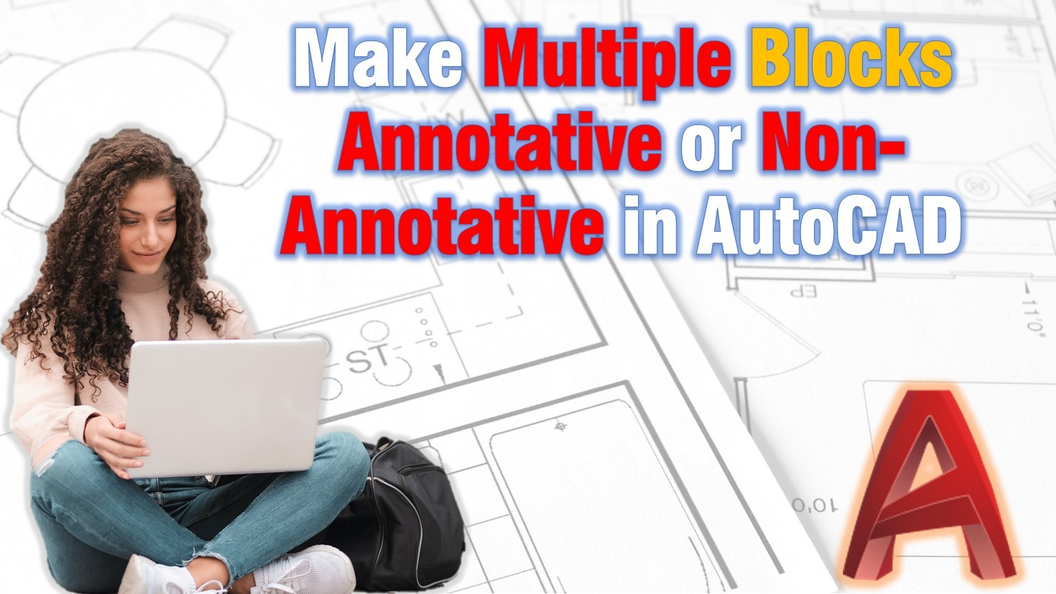 Make multiple blocks annotative or non annotative in AutoCAD