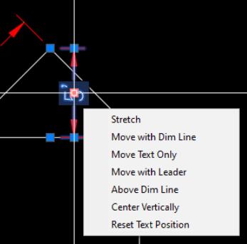 Dimension Text grip options