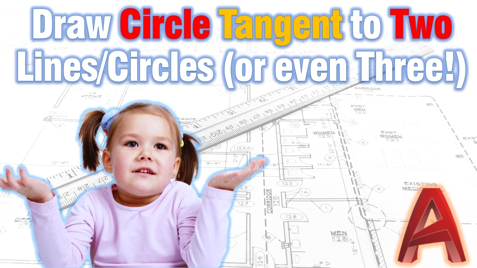 circle tangent to two objects