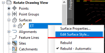 Edit Surface Style