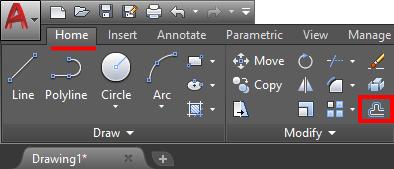 offset icon autocad