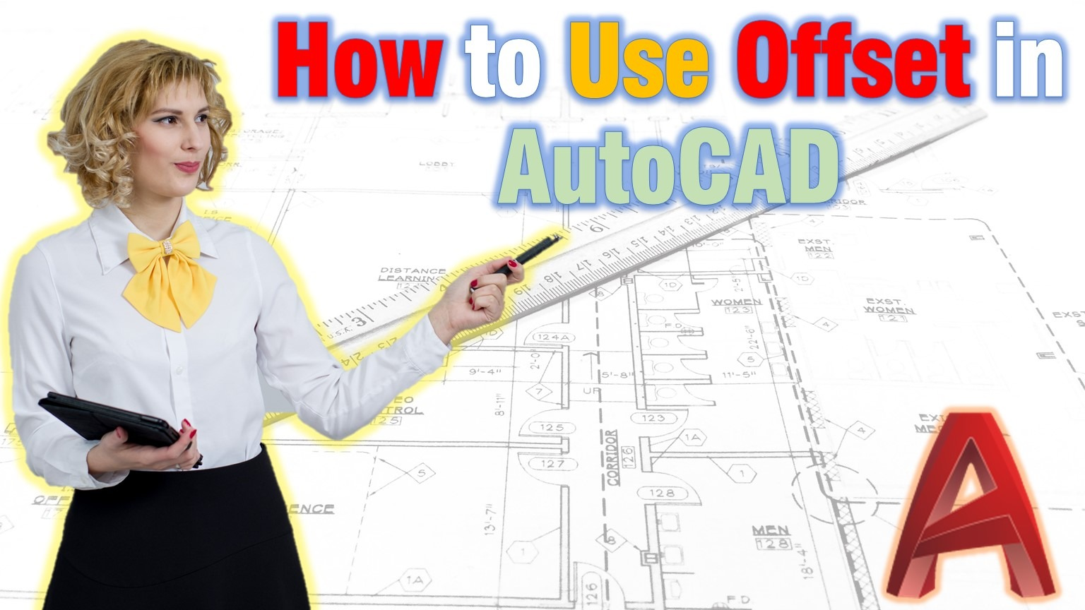 how to offset in AutoCAD