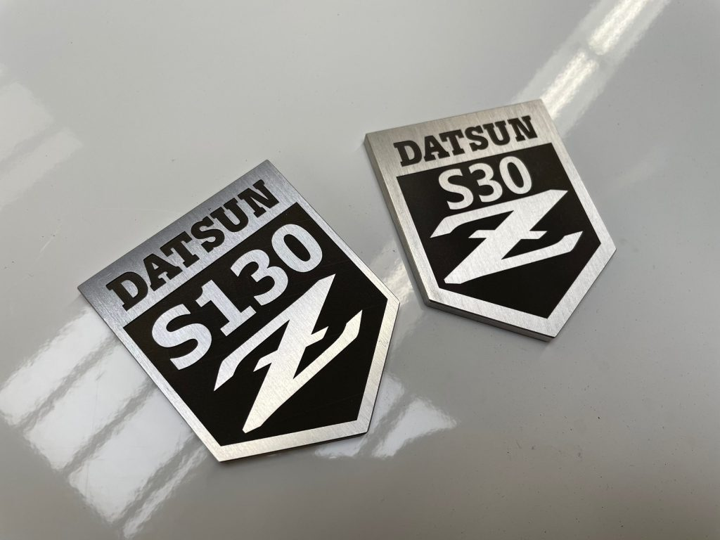 DATSUN Aluminum Badge
