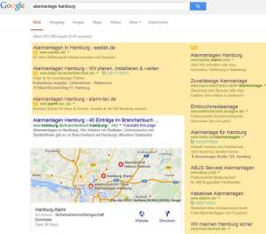 Screenshot Google Adwords Anzeigen