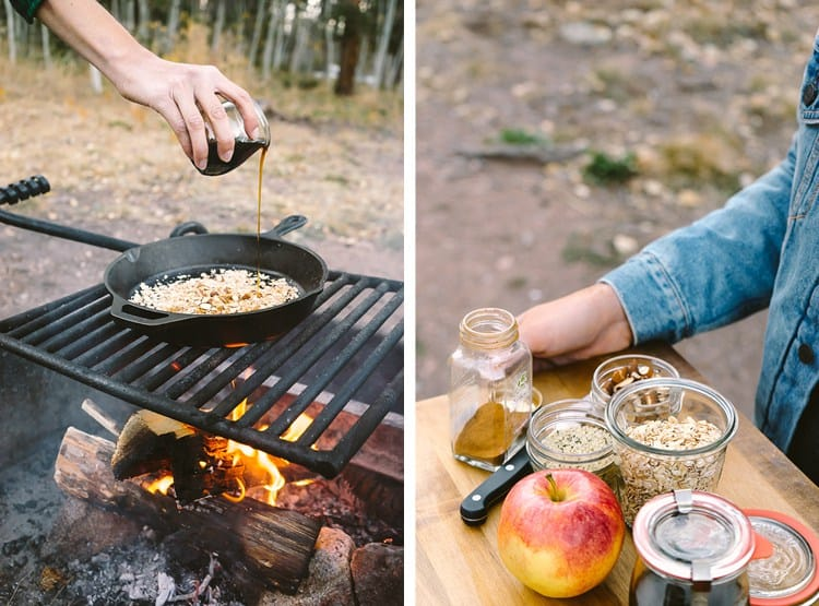 Campfire Apple Crisp Breakfast