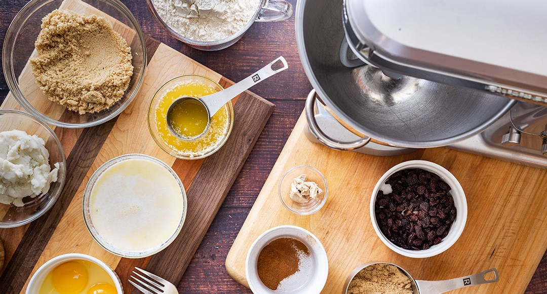 Ingredients of the Mashed Potato Raisin Buns
