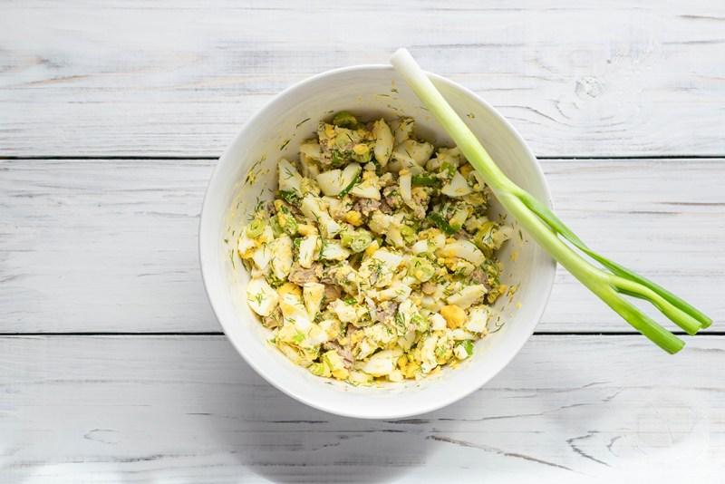 cod salad in a bowl
