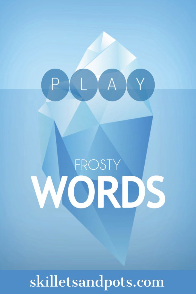 Screenshot of the word game Frosty Words
