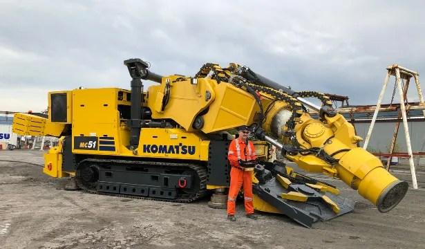 Komatsu's MC51 hard rock mining machine