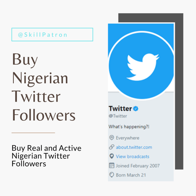 Buy Nigerian Twitter Followers