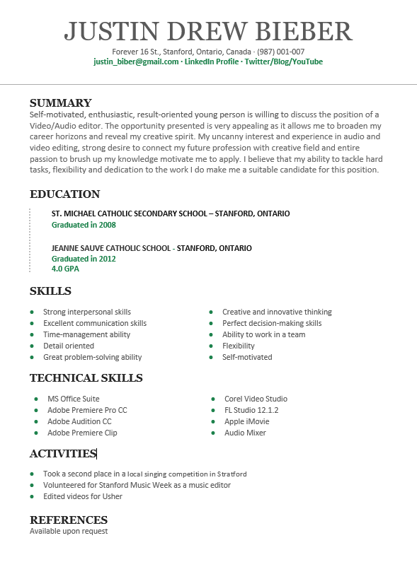 Your First Resume With No Work Experience Guide Skillroads