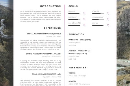 20 creative resume examples for your inspiration   Skillroads com creative resume 1 photo