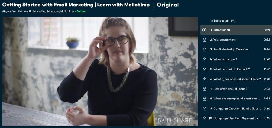 Getting Started with Email Marketing _ Learn wtih MailChimp (Skillshare)