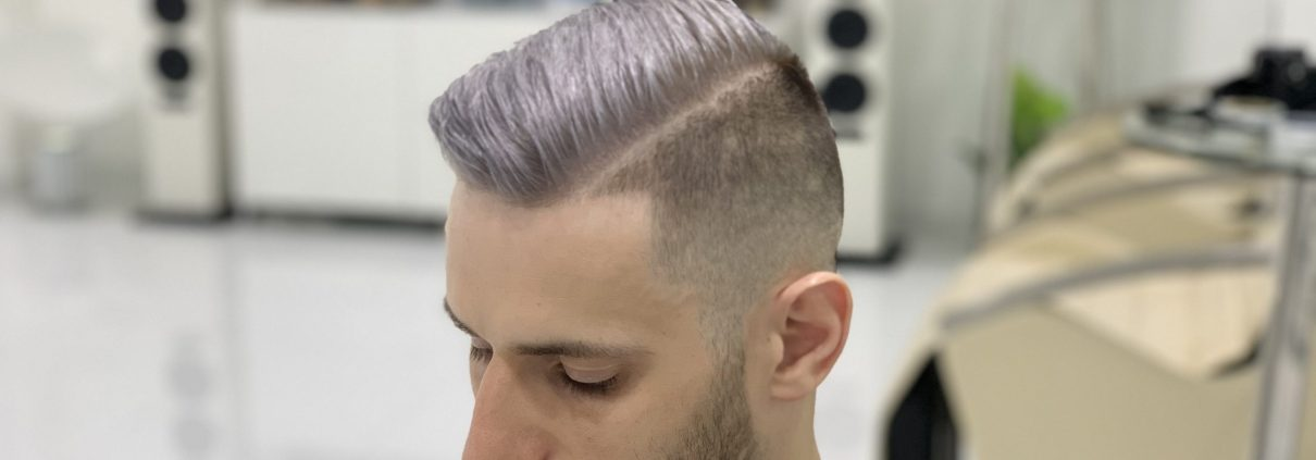 Ash Blonde/ Platinum Hair Color by SKILLS Dubai Barbershop