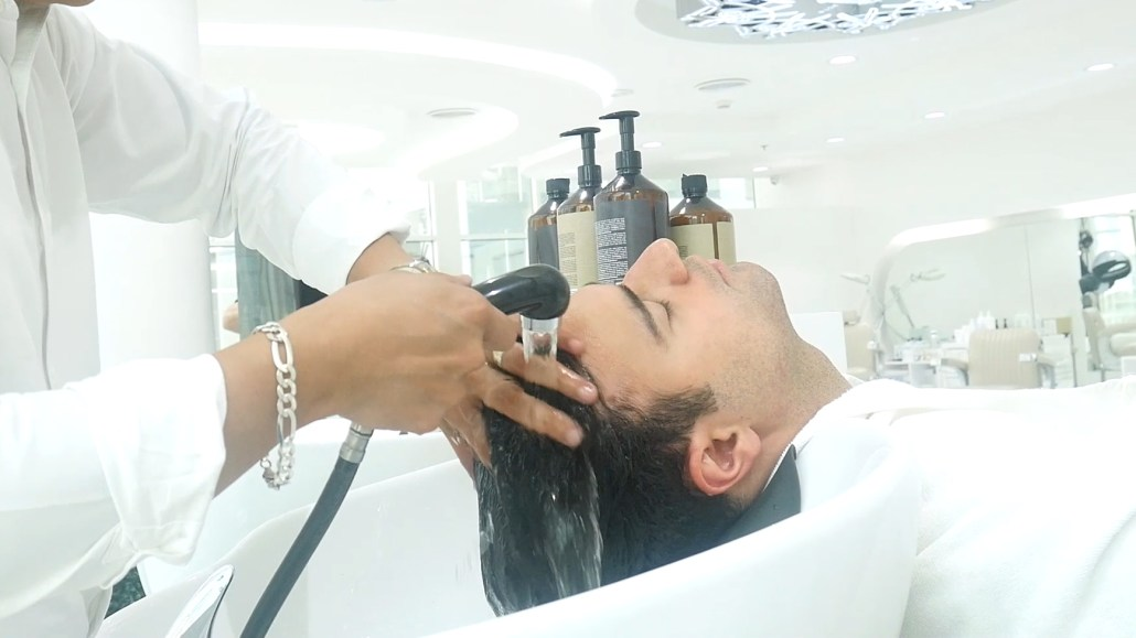 Hairwash at SKILLS Dubai Barbershop