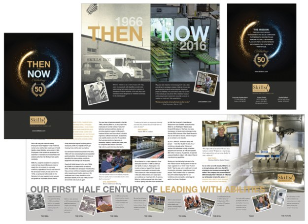 image of whole 50th brochure