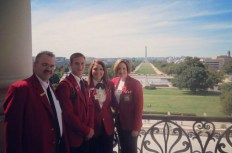 From the left: Mike Cowles, Matt Carder, Brooke Long, and Jackie Walker, all from SkillsUSA Ohio.
