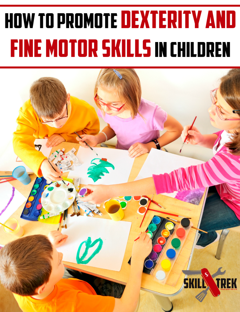 Having and developing dexterity and fine motor skillsare an important part of everyone's childhood. Here are some ideas to help you promote dexterity and fine motor skills with your children through crafts and hands-on activities.
