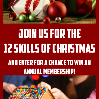 It's time for the 12 Skills of Christmas! Be sure to check out our amazing program to prepare your kids for the holiday season, teach them some valuable holiday skills, and have a great time making memories. In celebration of the 12 Skills of Christmas, we want to give a gift ourselves. The gift of Skill Trek! Enter to win an annual membership