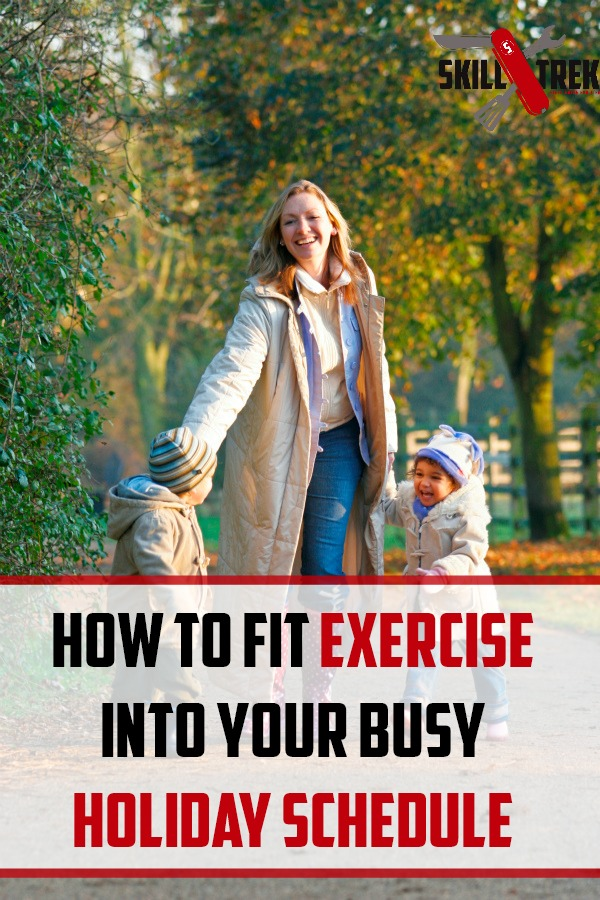 The holidays mean a busy schedule. BUT that doesn't mean your fitness regimen needs to be pushed aside. Here are some ways to fit in exercise this busy holiday season.