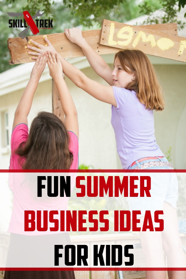 Looking for summer business ideas for your kids? We are sharing 15 great business ideas for kids from elementary all the way to high school!