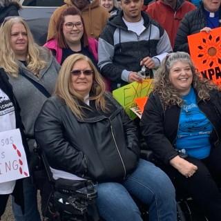 Mary, Niki, Dillon, LouAnn and Shari at protest